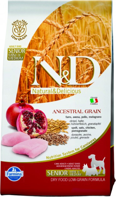 N&D Low Grain Chicken & Pomegranate Senior