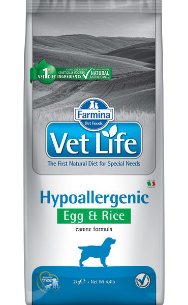 Vet Life Dog Hypoallergenic Egg & Rice