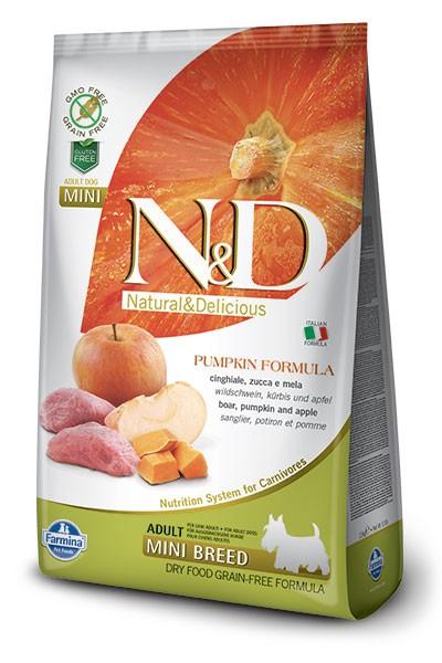 N&D Dog GF Pumpkin Boar & Apple Adult Mini
