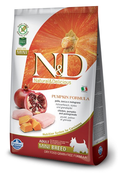 N&D Dog GF Pumpkin Chicken & Pomegranate Adult Mini