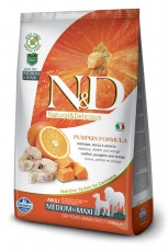 N&D Dog GF Pumpkin Codfish & Orange Adult Medium & Maxi