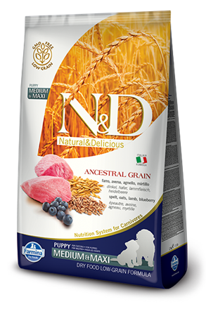 N&D Low Grain Dog Lamb & Blueberry Puppy Medium & Maxi