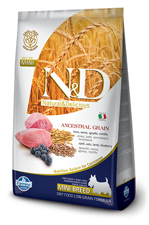 N&D Low Grain Dog Lamb & Blueberry Puppy Mini