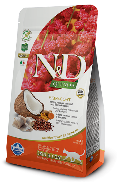 N&D Cat Quinoa Skin&coat Herring