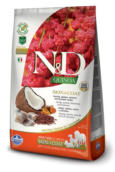 N&D Dog Quinoa Skin&coat Herring