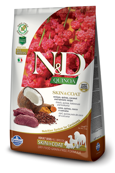 N&D Dog Quinoa Skin&coat Venison